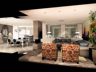 proyecto piso Las Tablas: Salones de estilo  de Carlos Roncero Showroom