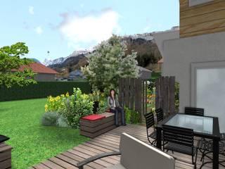 Jardines de estilo moderno de Anthemis Bureau d'Etude Paysage Moderno
