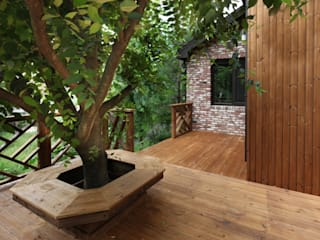 푸른 숲 속, 나만의 미술관 (양평 문호리): 윤성하우징의  정원,클래식