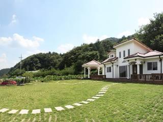 자연 속 힐링의 공간(원주 성남리 주택) 지중해스타일 주택 by 윤성하우징 지중해