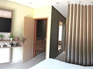 Dormitorios de estilo moderno de Nailê Rabelo - arquitetura e design Moderno