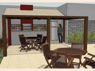 Reforma Área Gourmet - Residência: Terraços  por Layla Araújo Arquitetura,