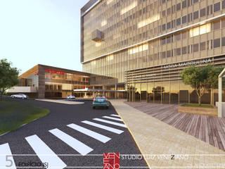 JSJ BUILDING Centros de congressos modernos por STUDIO LUIZ VENEZIANO Moderno