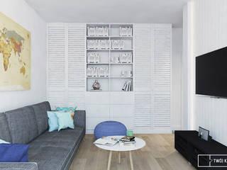 Twój Kwadrat Moderne Wohnzimmer Weiß