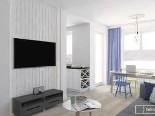 Twój Kwadrat Mediterrane Wohnzimmer Blau