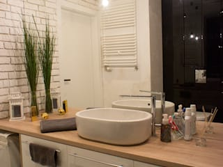 cable power Skandynawska łazienka od Twój Kwadrat Skandynawski
