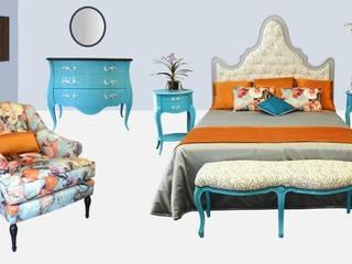 Chambre à coucher REVERIE:  de style  par BALCAEN Mobilier de style, Paris