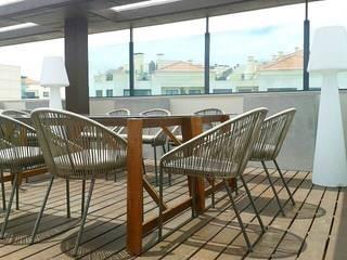 PROJETO DE DECORAÇÃO EXTERIORES Varandas, marquises e terraços mediterrânicos por all Design [Arquitectura e Design de Interiores] Mediterrânico