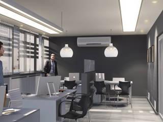 Oficinas CAC: Oficinas y Tiendas de estilo  por Comma - Oficina de arquitectura