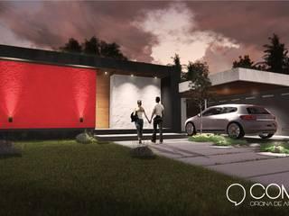 Vista Frente: Casas de estilo  por Comma - Oficina de arquitectura