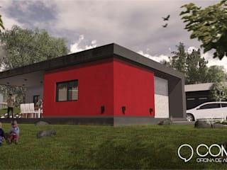 Vista lateral: Casas de estilo  por Comma - Oficina de arquitectura