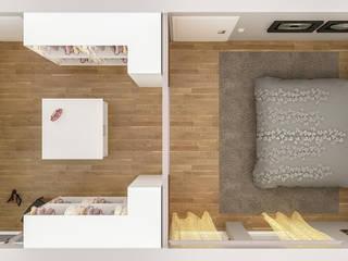 Schlafzimmer mit begehbarem Kleiderschrank DÖRR planen+einrichten AnkleidezimmerKleiderschränke- und kommoden Holz Beige