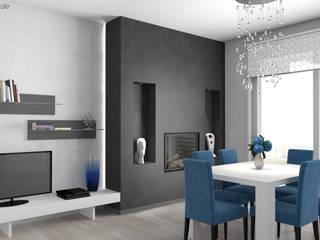 Salotto - Rendering:  in stile  di Area Visuale