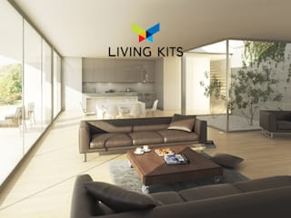 Moderne woonkamers van Casas Modernas | LIVING KITS Modern