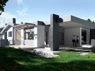 Private House: Case in stile in stile Moderno di Realistic Art Render