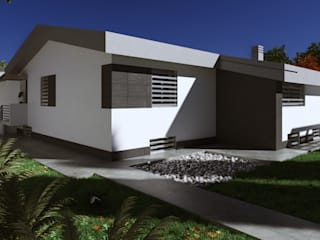 Private House: Case in stile  di Realistic Art Render