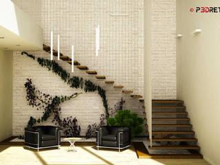 Office project Studio moderno di P3dretti Moderno