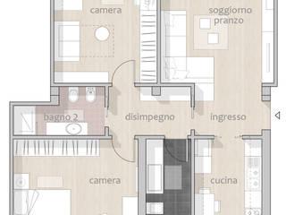 Appartamento_CF Case in stile minimalista di Riccardo Cazzaniga Architetto Minimalista