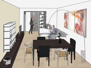 Riccardo Cazzaniga Architetto Modern Living Room Wood Beige