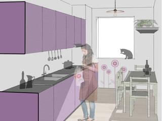 Riccardo Cazzaniga Architetto Kitchen Wood Purple/Violet