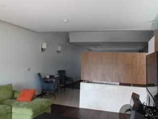 DEPARTAMENTO R-G Salas multimedia modernas de IARKITECTURA Moderno