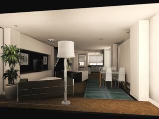 reforma y decoracion salon: Salones de estilo  de Carlos Roncero Showroom