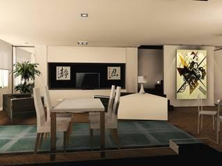 reforma salon casa dos plantas: Salones de estilo  de Carlos Roncero Showroom