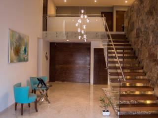 Acceso Pasillos, vestíbulos y escaleras de estilo moderno de AParquitectos Moderno