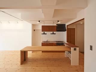 豪徳寺のマンションリノベーション オリジナルデザインの ダイニング の 佐賀高橋設計室/SAGA + TAKAHASHI architects studio オリジナル