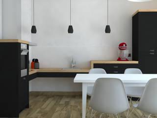 Rénovation d'un appartement Cuisine moderne par MARTIN Intérieur Moderne