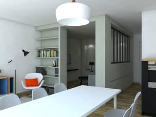 Rénovation d'un appartement Salon moderne par MARTIN Intérieur Moderne