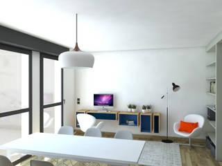 Rénovation d'un appartement Salle à manger moderne par MARTIN Intérieur Moderne