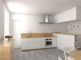 Rénovation complète d'un appartement Cuisine scandinave par MARTIN Intérieur Scandinave