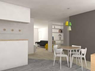 Rénovation complète d'un appartement Salle à manger scandinave par MARTIN Intérieur Scandinave