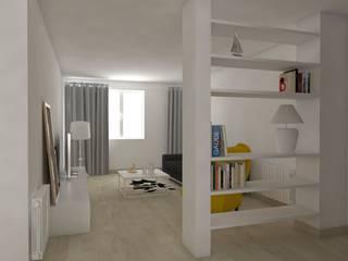 Rénovation complète d'un appartement Salon scandinave par MARTIN Intérieur Scandinave