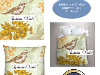 Décoration d'intérieure à motifs oiseaux: rideaux, stores, coussins, housse de couettes imprimés d'oiseaux:  de style  par Rideau-voile, Classique
