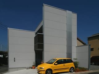 古海道の家(モダンデザインの外観・木質系インテリア) ATS造家設計事務所 モダンな 家 アルミニウム/亜鉛 灰色