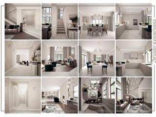 mlynchyk interiors Pasillos, vestíbulos y escaleras de estilo clásico