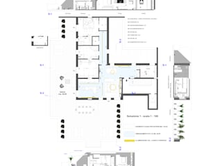 Planimetria e sezioni:  in stile  di RDstudioarchitettura - daniele russo architetto