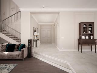 mlynchyk interiors Pasillos, vestíbulos y escaleras de estilo clásico Beige