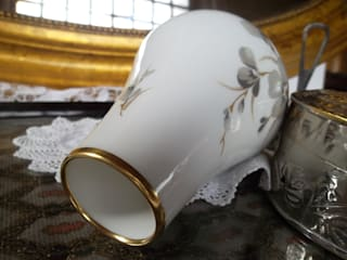 elegante vintage Blumenvase, midcentury, 50er Jahre Kult, PMR Jaeger & Co von Die Raritätenstöberei Ausgefallen Porzellan