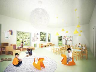 Kindergarten in Semily Moderne Schulen von MATTER - Büro für Architektur und Städtebau Modern
