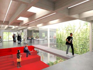 Zeichensaalgebäude TU-Braunschweig:  Schulen von MATTER - Büro für Architektur und Städtebau