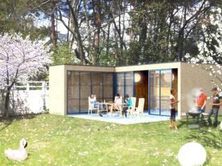Gartenhaus Fam. Fritsche: moderne Garage & Schuppen von MATTER - Büro für Architektur und Städtebau