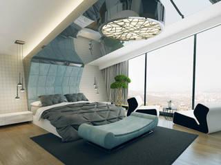 Ankara Villa Projesi Modern Yatak Odası homify Modern
