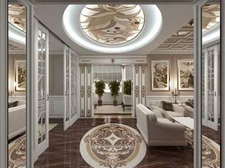 Salas de estilo ecléctico de Студия дизайна интерьера Руслана и Марии Грин Ecléctico