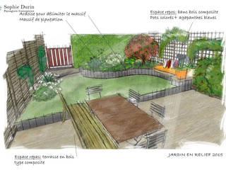 Jardin En Relief:  de style  par  Sophie Durin | Empreinte Paysagère