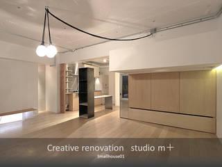 studio m+ by masato fujii Modern living room Wood Wood effect