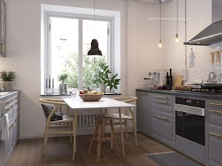 Shevchenko_Nikolay Scandinavian style kitchen