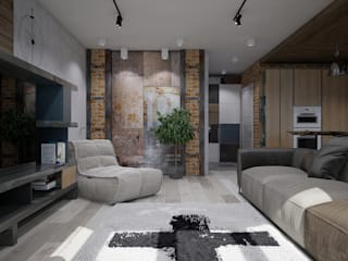 Industrial style living room by Pavel Alekseev Industrial